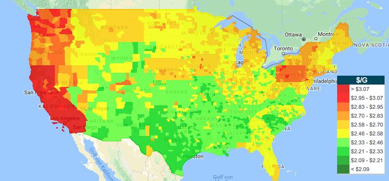 Benzinpreise in den USA