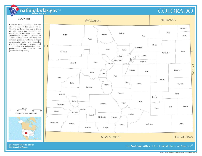 Karte von Colorado