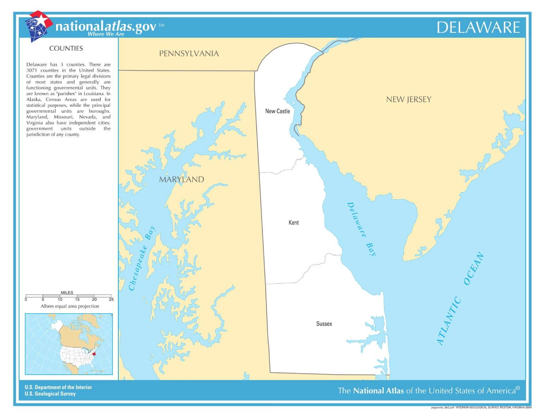 Karte von Delaware