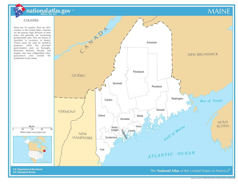 Karte von Maine