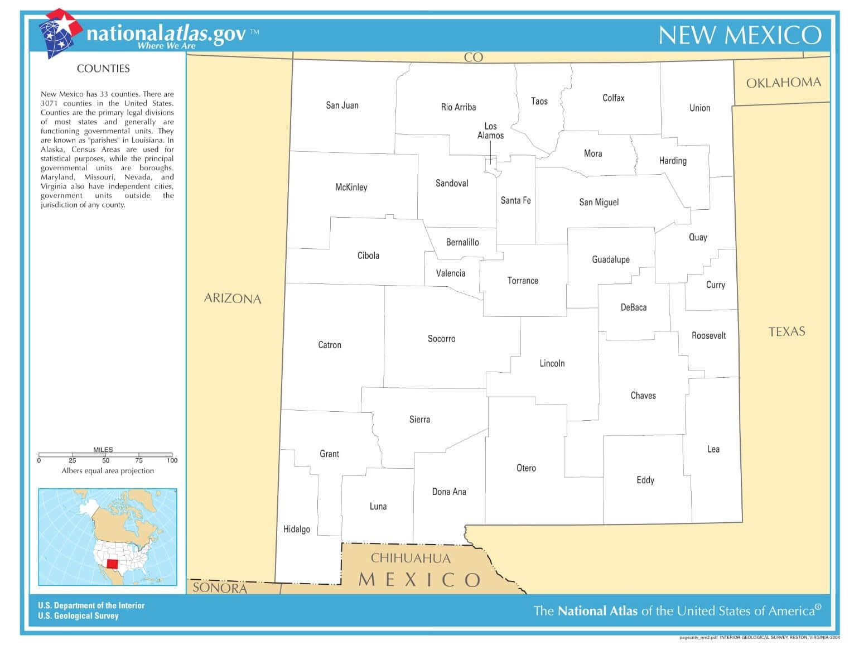 Karte von New Mexico